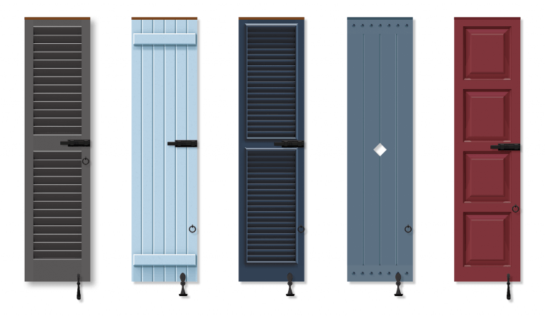Timberlane offers a range of panel, louver, bahama, board and batten, mission and combination shutter styles