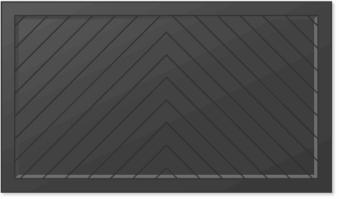 image of a chevron panel design for Timberlane's carriage garage door styles