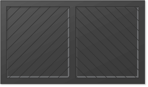 image of a herringbone panel design for Timberlane's carriage garage door styles