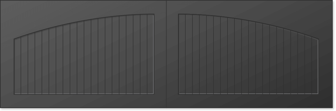 image of a solid AR arched top option for Timberlane's carriage garage door styles