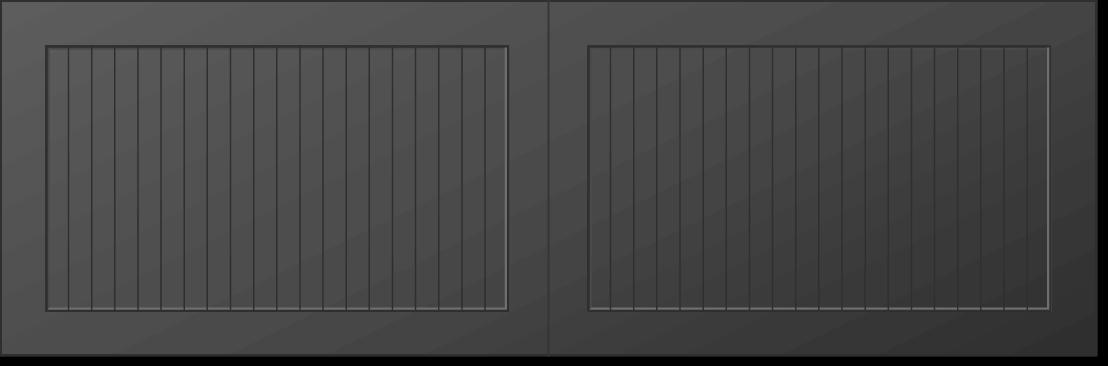 solid SQ carriage garage door square top option