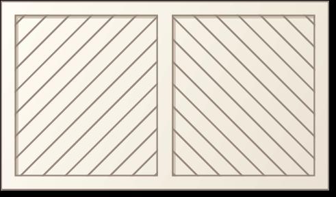 mage of a herringbone panel design for Timberlane's classic garage door styles