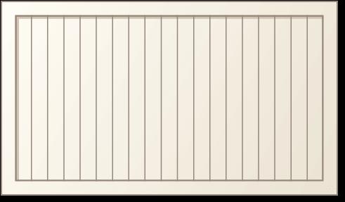 image of a vertical panel design for Timberlane's classic garage door styles