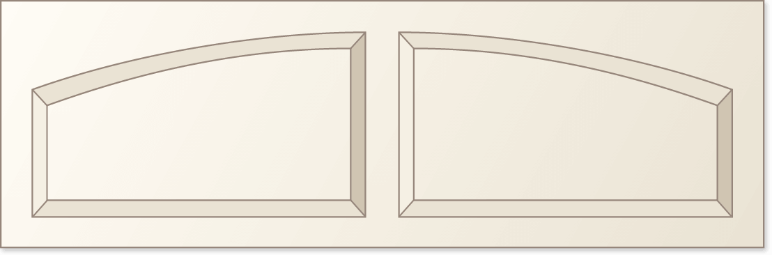 image of a solid AR arched top option for Timberlane's classic garage door styles