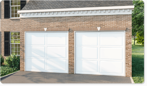 image of a clear glass option for Timberlane's classic garage door styles