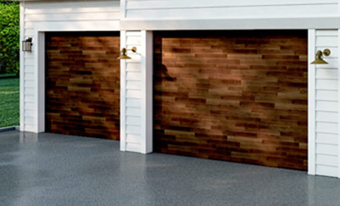 Timberlane offers stain finish options for our available garage door materials