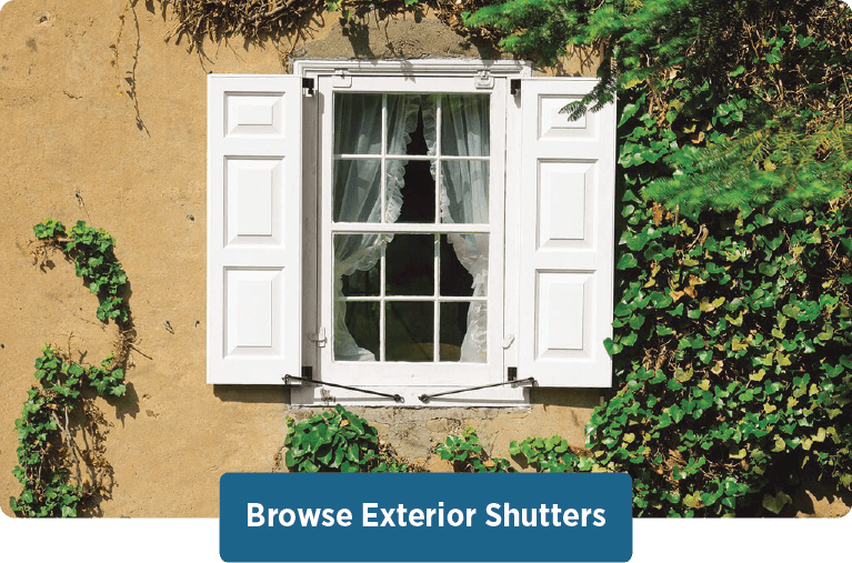 browse Timberlane's handcrafted exterior shutter styles, materials, customization options, and more
