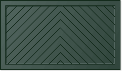 mage of a chevron panel design for Timberlane's trifold garage door styles