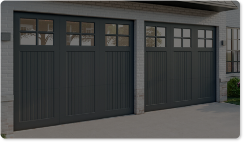 image of a tinted glass option for Timberlane's trifold garage door styles