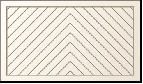 image of a chevron panel design for Timberlane's classic garage door styles