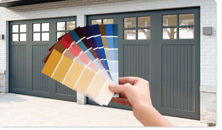 Timberlane offers premium paint, stains, and custom color matching for all available styles of custom garage doors