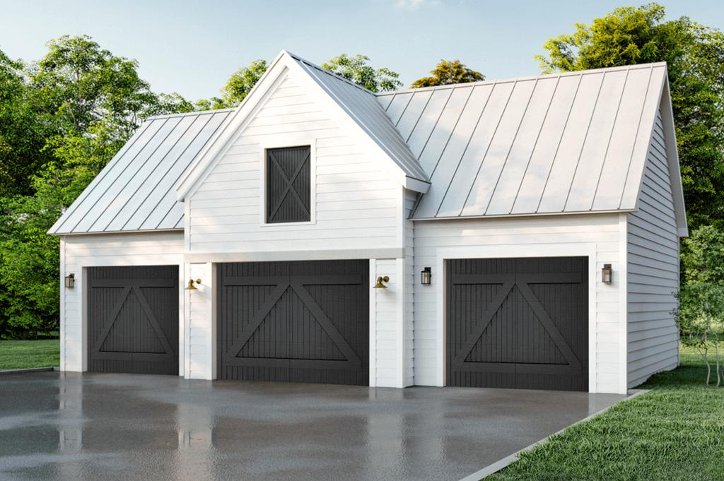 Farmhouse Stone Homes Shutters Garage Door Gallery Timberlane
