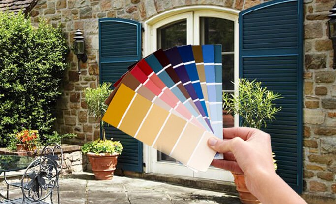 Timberlane offers custom color matching capabilities for all exterior shutter orders
