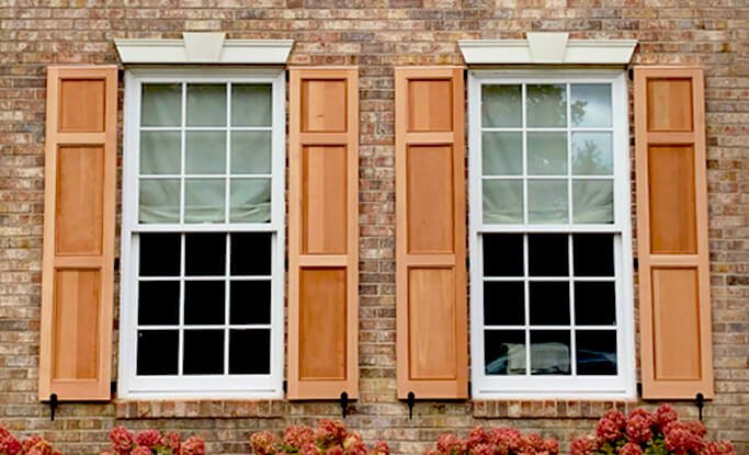 Timberlane offers a variety of standard stain finishes for wooden exterior shutters